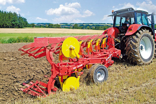 mounted plow / with gauge wheel / reversible / furrow