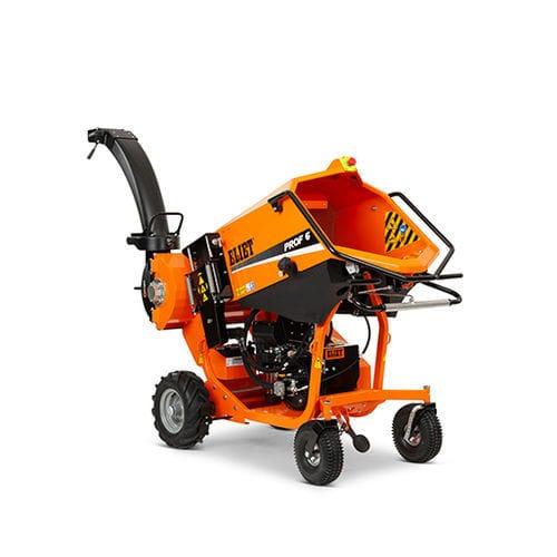 self-propelled bio shredder / gasoline engine / hydraulic
