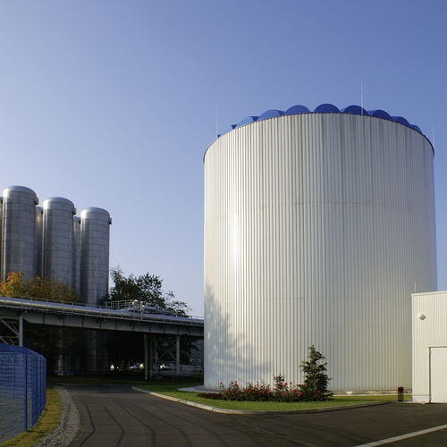 biogas tank / flexible / pressure / metal