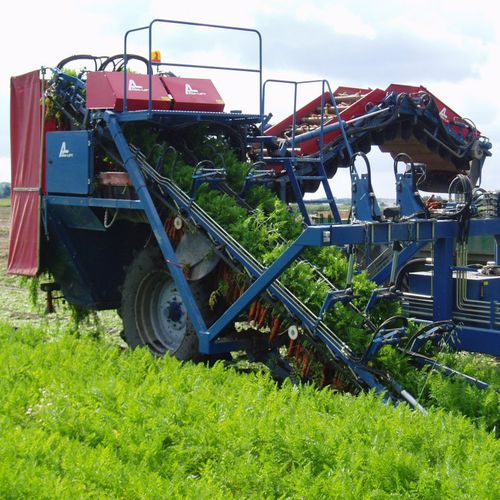 carrot harvester / trailed / tractor-mounted / 2-row