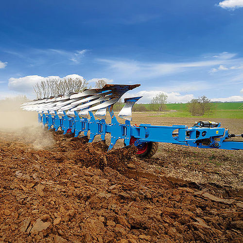semi-mounted plow / with hydraulic adjustment / depth control / reversible