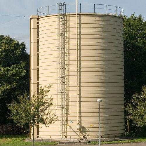 biogas tank / vertical / stainless steel / galvanized steel