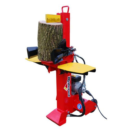 electric log splitter / wheeled / vertical