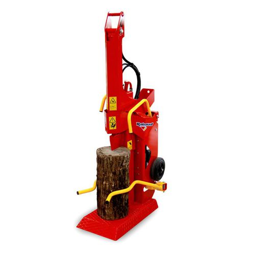 electric log splitter / wheeled / vertical / automatic