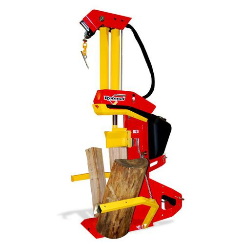 PTO-driven log splitter / tractor-mounted / vertical / automatic