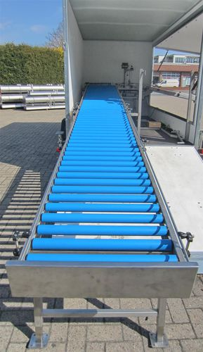 container conveyor / roller / inclined