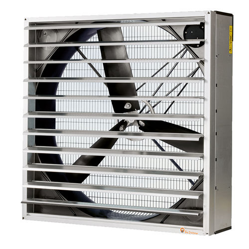 fan for livestock buildings / for air circulation / wall-mounted / fiberglass