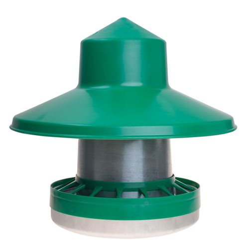 chicken hopper feeder / plastic / multi-access / floor-mounted