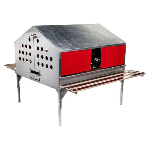broiler-breeder rearing cage / layer / with egg belts