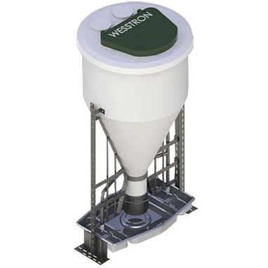pig hopper feeder / polyethylene / stainless steel / multi-access