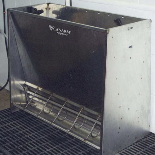 pig trough / stainless steel / steel / multi-access