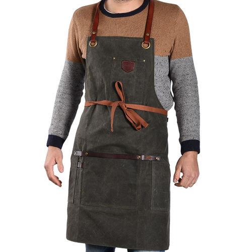 work apron / cotton / canvas / unisex
