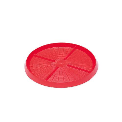 chick pan feeder / plastic / multi-access / floor-mounted