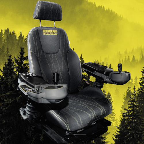 harvester seat / with suspension system