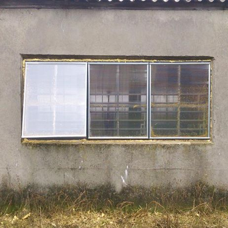 window for livestock buildings / wall-mounted / for ventilation