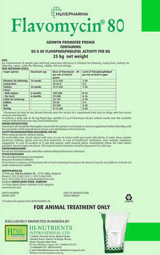 growth enhancer feed additive / poultry / cattle / fish