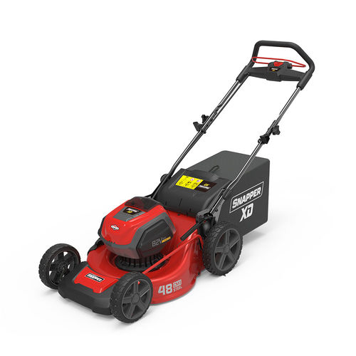 push lawn-mower / battery-powered / collecting