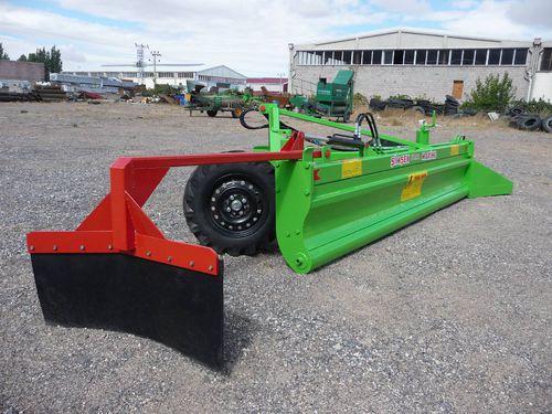 rock rake / cylindrical roller / side delivery