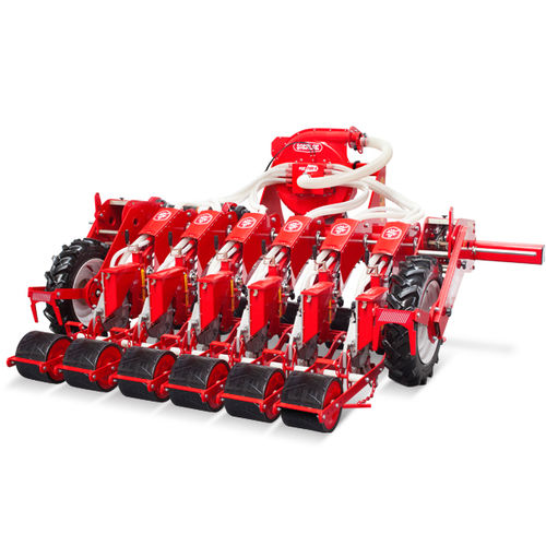 pneumatic seed drill / 12-row / tractor-mounted / depth control