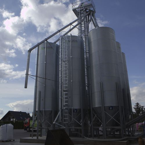 feed silo / for animal feed / steel / galvanized steel