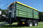 dump trailer / tandem axle / agricultural / 2 ton