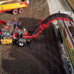 potato conveyor / belt / mobile / height-adjustable