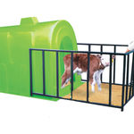livestock hutch / calf / individual / plastic