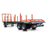 flatbed trailer / 3-axle / for bale / 14 ton