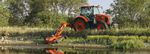 agricultural rotary cutter / rear-mount / PTO-driven / folding