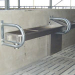 cow waterer / trough / metal / wall-mounted