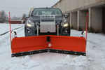 V-shaped snow plow / with hydraulic adjustment