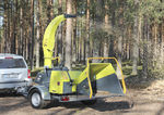 towed wood chipper / electric