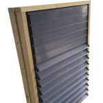 air inlet for livestock buildings / farm building / wall-mounted / for ventilation