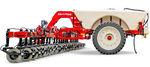 trailed fertilizer applicator / liquid / folding