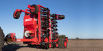 hopper seed drill / trailed / with disc harrow / folding