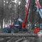 rubber-tired forestry harvester