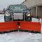 V-shaped snow plow