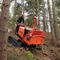 self-propelled wood chipper / diesel engine / hydraulic