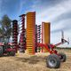 trailed disc harrow / 2-section / with roller