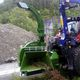 mounted wood chipper / PTO-driven / hydraulic / with crane