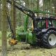 mounted wood chipper / PTO-driven / with crane