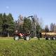 trailer-mounted log loader / knuckle boom