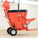 vertical feed mixer / trailed / side discharge / single-auger