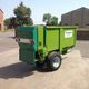 trailed manure spreader / horizontals beaters / single-axle / horticultural