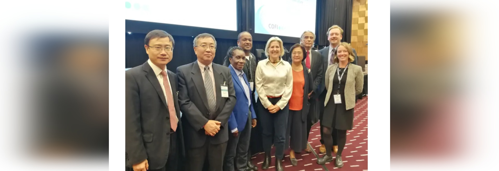 Prof Elizabeth Cottier-Cook of SAMS (fifth from left) who heads up the GlobalSeaweedSTAR project, hosted a side event at the Food and Agriculture Organization (FAO) sub-committee on aquaculture to ...
