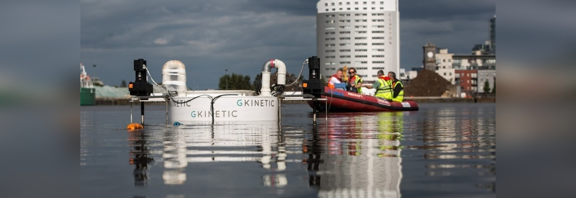 The testing of GKinetic's scaled device in Limerick Docks