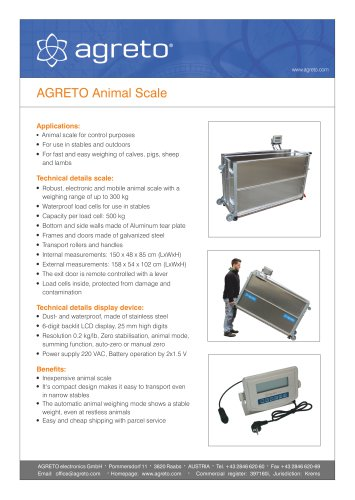 AGRETO Livestock/animal scale