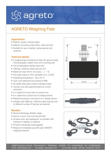 AGRETO Weighing Feet