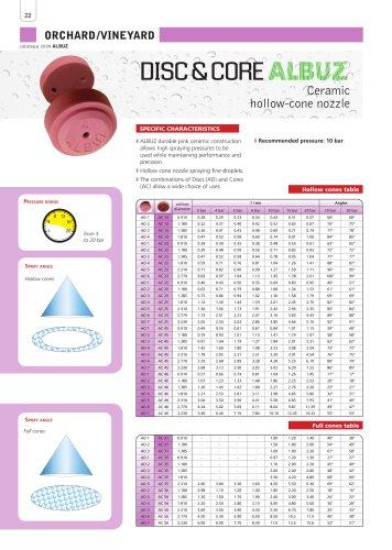 DISC & CORE - Ceramic hollow-cone nozzle