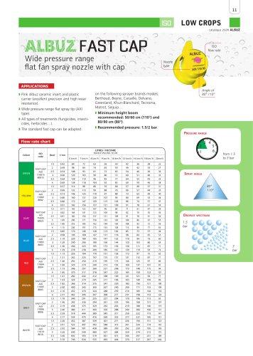 FAST CAP - Wide pressure rangeflat fan spray nozzle with cap